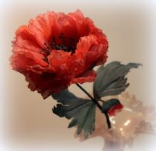 Photo: Цветы из ткани -мак из шелка интерьерный