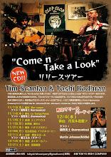 "Photo: Tim Scanlan & Toshi Bodhran 「""Come n Take a Look""」 CDリリースツアーフライヤー 2013.10"
