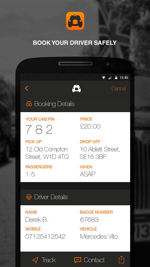 cabapp- screenshot