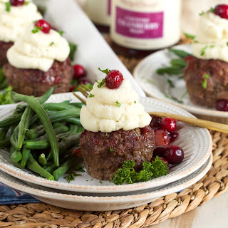 Mini Meatloaf Cupcakes with Cranberry Glaze Recipe
