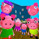 Piggy Neighbor. Family Escape Obby House 3D icon
