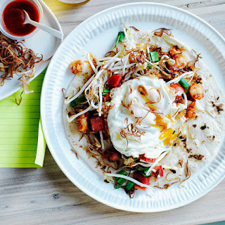Prawn And Egg Roti.