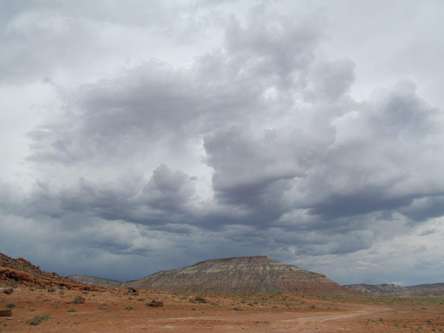 Dark clouds over Little Cedar Mountain