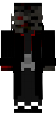 a demon wither with the black hat suit from villanos