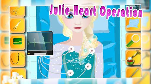 Julie heart operation