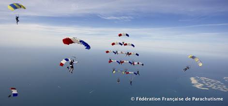 Photo: Tentative de Grande Formation avec les Suedois, USA et Français (2014)