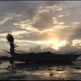 Sophia's Windblown Hair by Dickson   Shia - Babies & Children Children Candids ( sunset, beach, silhouette )