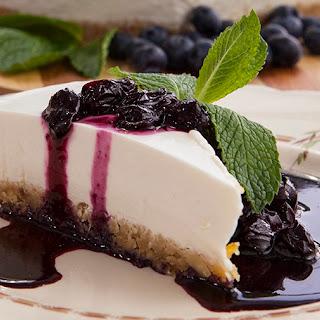 Blueberry Greek Yoghurt Cheese Cake