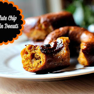 Chocolate Chip Pumpkin Donuts