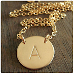 Letter Necklace Designs Icon
