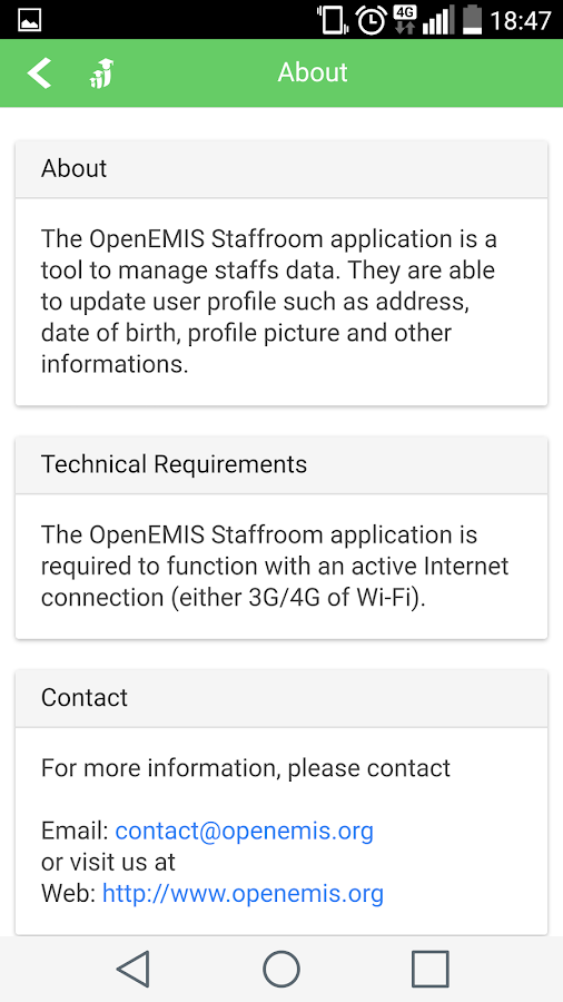 OpenEMIS Staffroom- screenshot