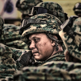 Well Prepared by Muhammad Muqri - People Street & Candids ( army, soldier, candid, people, war )