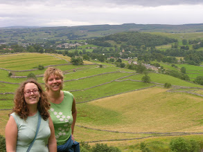Photo: Catrina and Suzanne catching up walking in the Yorkshire Dales