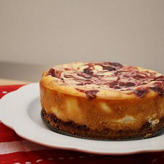 Raspberry Swirl Cheesecake