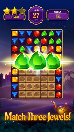 Jewels & Genies: Aladdin Quest - Match 3 Games screenshot 1