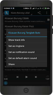 Suara Burung Master - screenshot