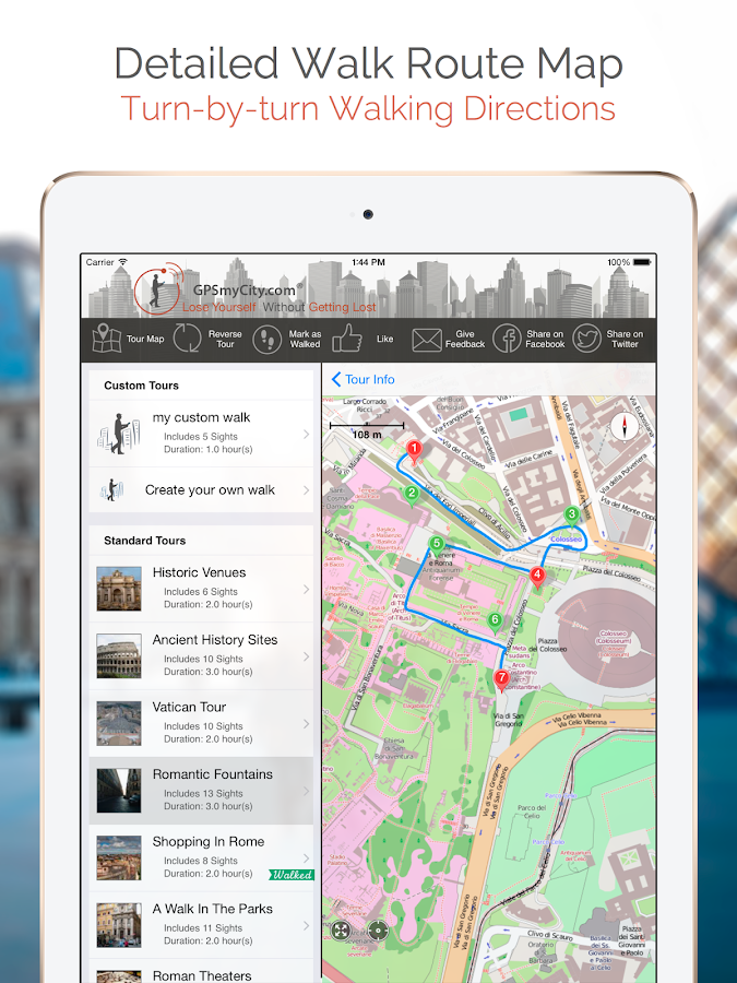 GPSmyCity: Walks and Articles- screenshot