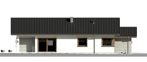 Dom przy Pastelowej 15 D - Elewacja lewa