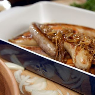 Braised Sausages With Caramelized Onions