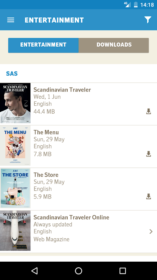 SAS Scandinavian Airlines- screenshot
