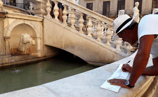 stage carnet de voyage aquarelle _ Jeanne PAPA_naples sicile rome italie 01