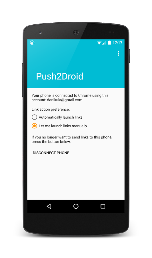 Push2Droid- screenshot