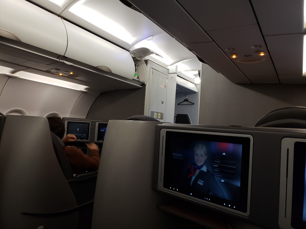 Airline Review American Airlines Business Class Airbus