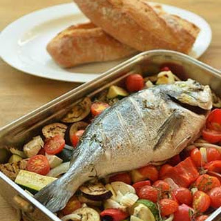 Bake Whole Sea Bream with Vegetables