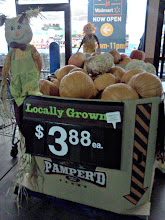 Photo: I enjoy Fall so much, just look at all the locally grown pumpkins in front of the Walmart entrance.