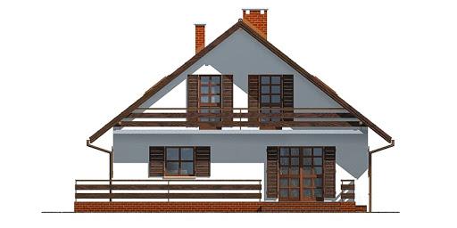 Dom przy Cyprysowej - Elewacja tylna