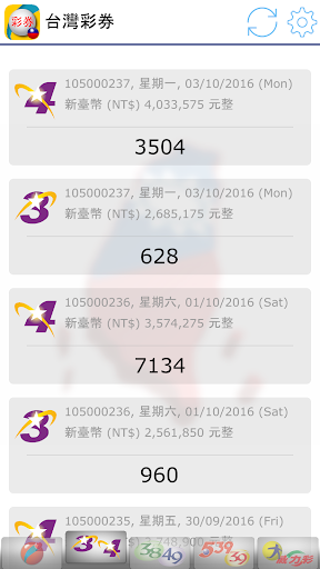 Fast Taiwan Lottery Results screenshot 3