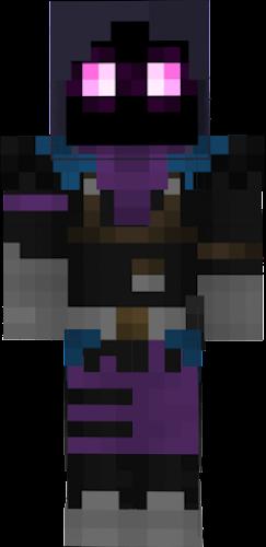 Girl Minecraft Skin Raven
