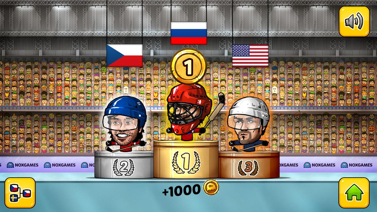 Puppet Ice Hockey: Pond Head- screenshot