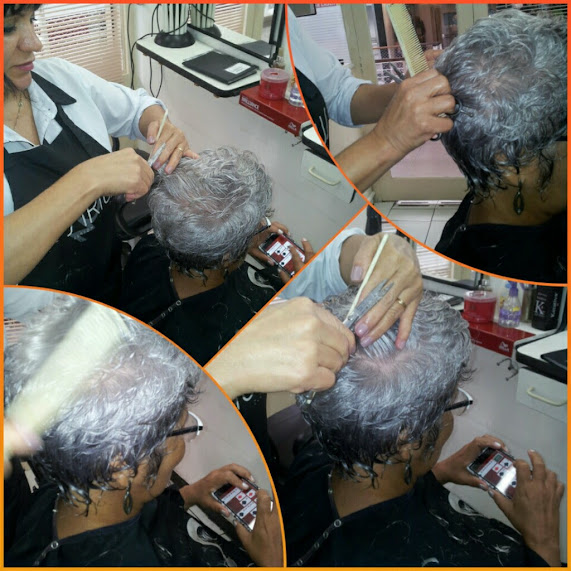 imagem de cabelo grisalho