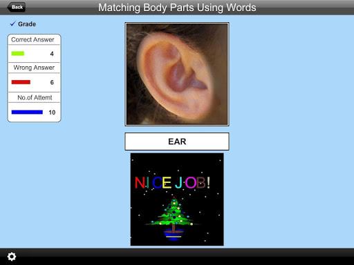 Matching Body Parts Words Lite 2.0 screenshots 4
