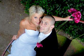 Photo: Lucy & Gary loved this wedding images I took of them at their wedding  at the Potters Heron Hotel in Hampshire.  VISIT www.asrphoto.co.uk for details.