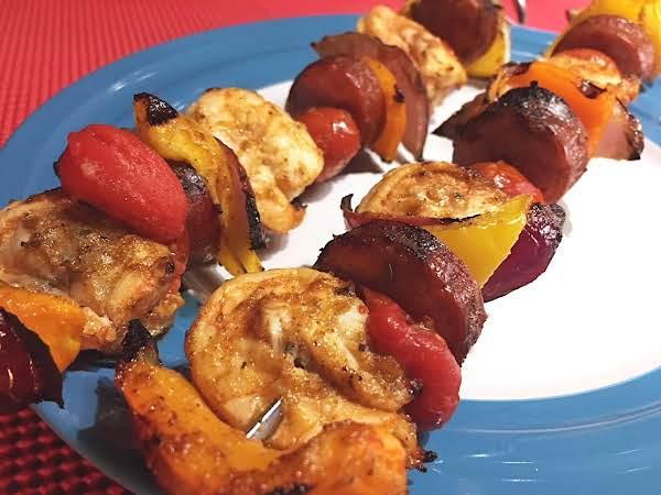 Creole Shrimp & Andouille Skewers Recipe