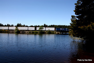 Photo: (Year 2) Day 353 -  Our Lunch Stop at a Lake with a Railway Through the Middle of the Lake #2