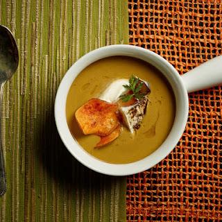 Autumn Sweet Potato and Mushroom Soup.