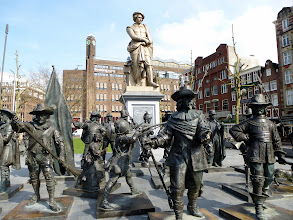 """Photo: Cool sculpture of Rembrant's """"Night Watch"""""""