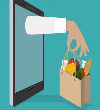 Convenience that technology in food delivery provides.