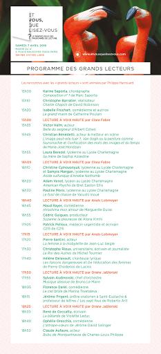 Programme 2018 EVQLV