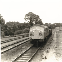 Photo: The Wednesday goods pick-up arrives from Oxford with 3 coal trucks (1969?)