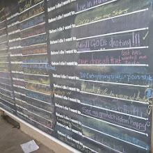 "Photo: The interactive ""Before I Die"" wall."