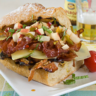 Polynesian Grilled Pork Sandwich w/ Peach and Pepper Chutney