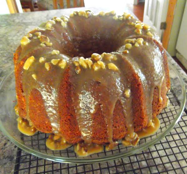 Black Walnut Pound Cake With Caramel Nut Glaze Recipe