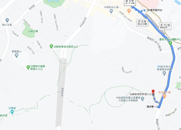 仙跡岩路線