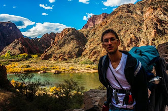 Photo: Daniele at the end of the South Kaibab Trail down the South Rim of Grand Canyon National Park, Arizona, USA