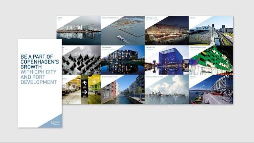 Eksempel på visuel identitet i CPH By og port