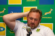Springbok assistant coach Matt Proudfoot faced tough questions from reporters.